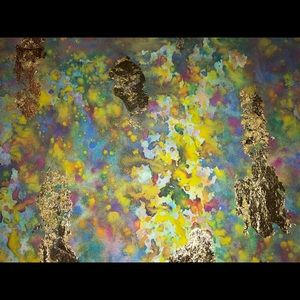 Other - Watercolours and gold flakes Handmade Wall Art